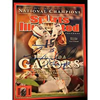$175 » Tim Tebow Signed Florida Gators Sports Illustrated Tebow Holo 08 Champs Insc - Autographed College Magazines