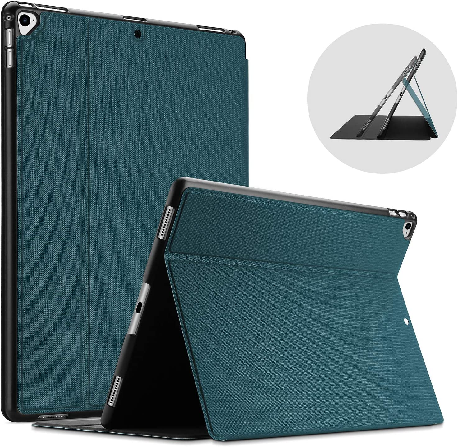 ProCase iPad Pro 12.9 2017 / 2015 Case (Old Model, 2nd & 1st Gen), Slim Stand Protective Folio Case Smart Cover for iPad Pro 12.9 Inch 2nd Gen 2017 / iPad Pro 12.9 Inch 1st Gen 2015 -Teal