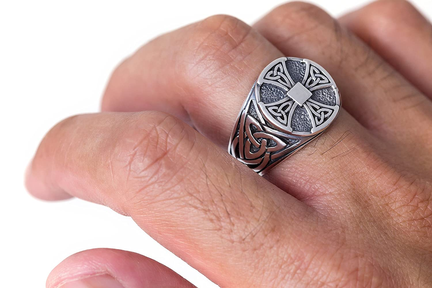 925 Sterling Silver Celtic Irish Knot Knights Templar Cross ...