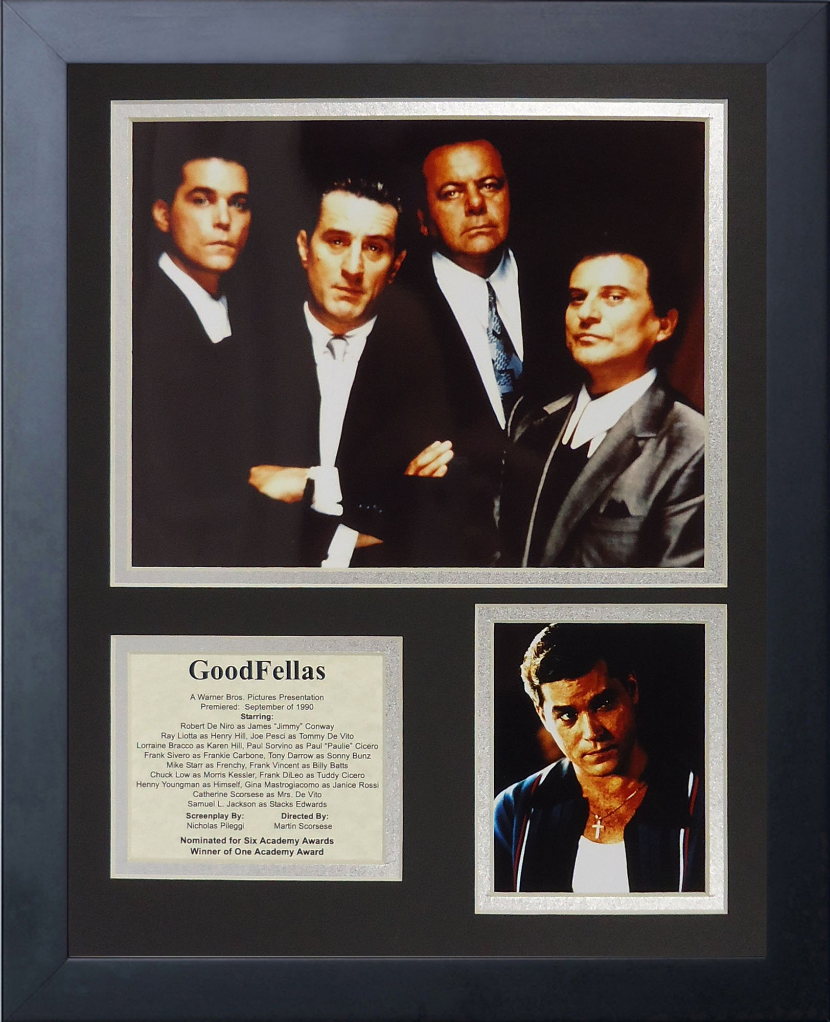Legends Never Die Goodfellas Framed Photo Collage, 11 by 14-Inch