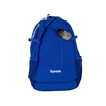 sports shoes 70be7 d639a Amazon.com  Supreme Backpack Blue SS18 100% Authentic Real SUPREMENEWYORK  Rare  Sports   Outdoors