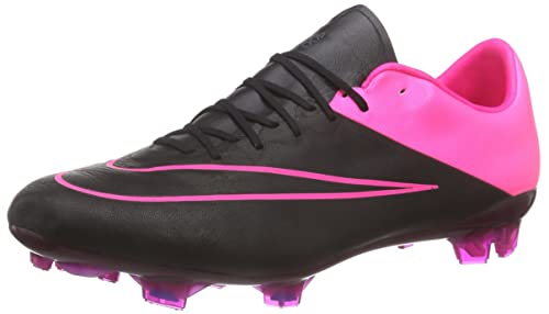 buy popular 57992 8f858 Nike Mercurial Vapor X Leather FG 747565-006 Black Hyper Pink Men s Soccer  Cleats