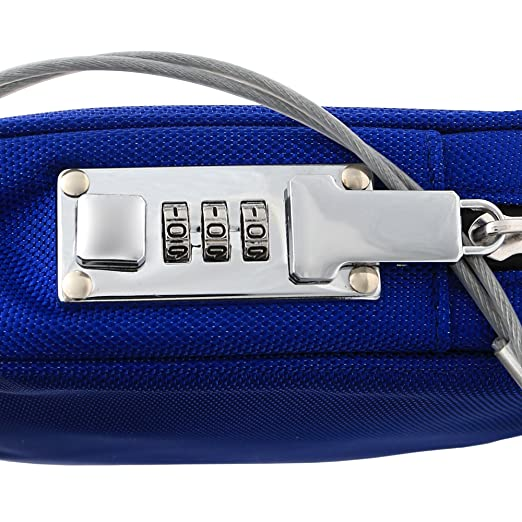 Safe Inside Small Locking Privacy Pouch with Steel Tether Cable, Blue - - Amazon.com