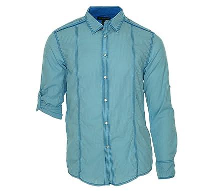 INC International Concepts Men's Light Blue Micro Striped Button Down Shirt