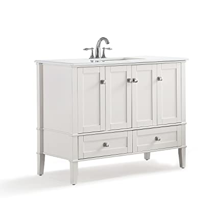 simpli home hhv029 42 chelsea 42 inch contemporary bath vanity in rh amazon com 42 inch white bathroom vanities 42 inch white bathroom vanity base