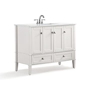 Simpli Home Hhv029 42 Chelsea 42 Inch Bath Vanity In Soft White With