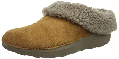 7b0741260135 FitFlop Womens Loaff Snug Suede Chestnut Slipper - 5