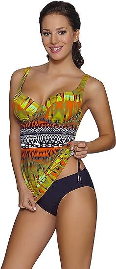 TALLA 120C. Merry Style Conjunto Tankini Camiseta y Bragas 2 Piezas Mujer 001