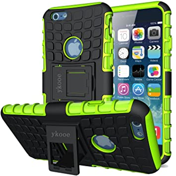 ykooe Funda para iPhone 6s, Híbrida de Doble Capa Silicona Carcasa para Apple iPhone 6 Case – Verde