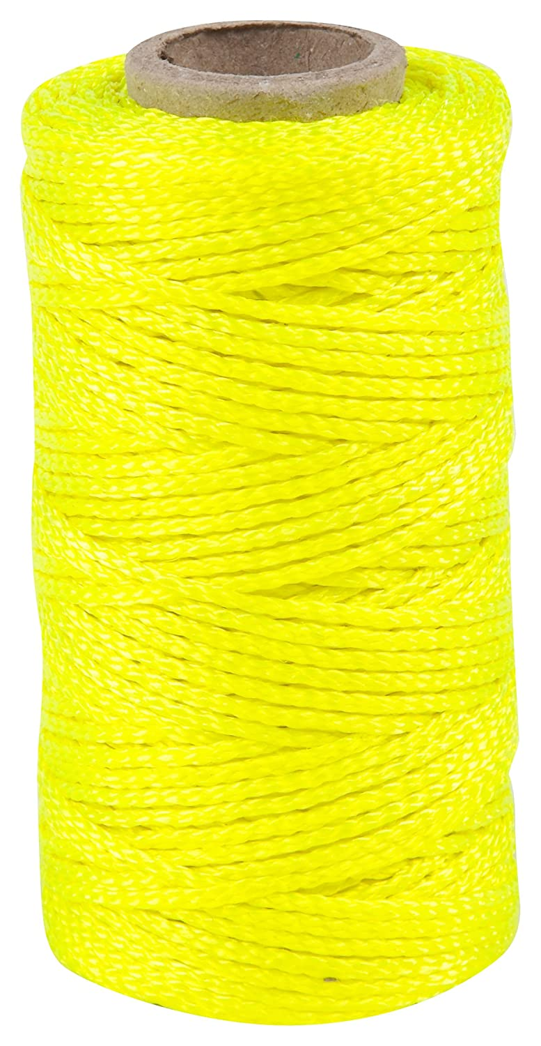Task Tools T27116 250 Feet Braided Nylon Construction Line Yellow