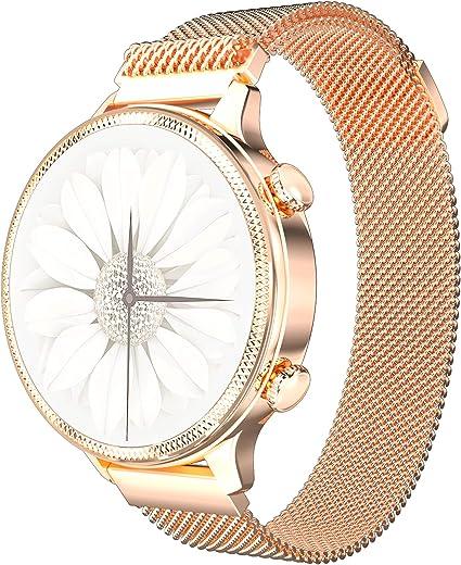 PHIPUDS Smartwatch Donna, Orologio Fitness Tracker Impermeabil IP67 Cardiofrequenzimetro Sonno salute delle donne Contapassi Cronometro Notifiche Messaggi Regalo per la festa della mamma