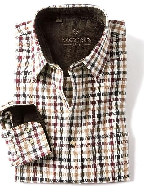 d35e202d Vedoneire Men's Brushed Cotton Tattersall Shirt (2280) Carocal (M (Chest 38-