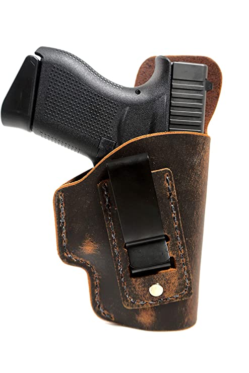 Kimber Micro 9mm Holster - Concealed Carry - Soft Sided Leather Inside the  Waistband (IWB) Concealed Carry Holster - IWB Leather Holster - Micro 9