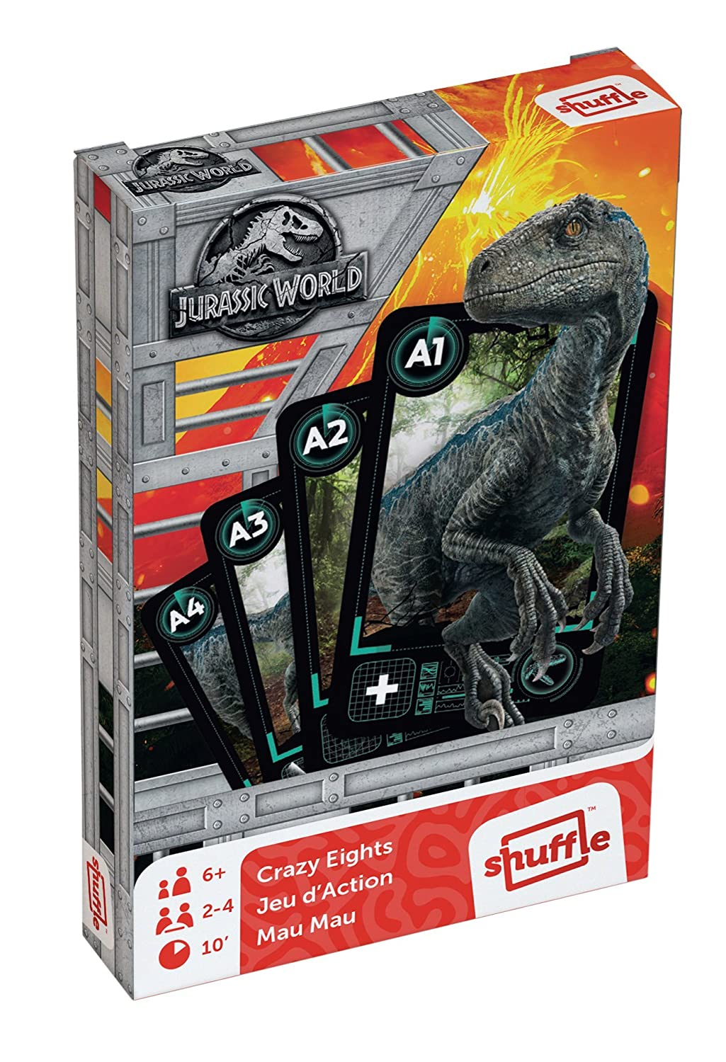 Cartamundi 108420928 Jurassic World Crazy Eights