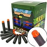 EKIND 200Pcs Darts Refill Foam Bullet for Nerf N-strike Elite Guns