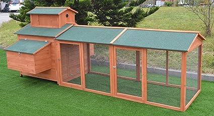 Amazon Com Omitree 10 Ft Wood Chicken Coop Backyard Hen Run