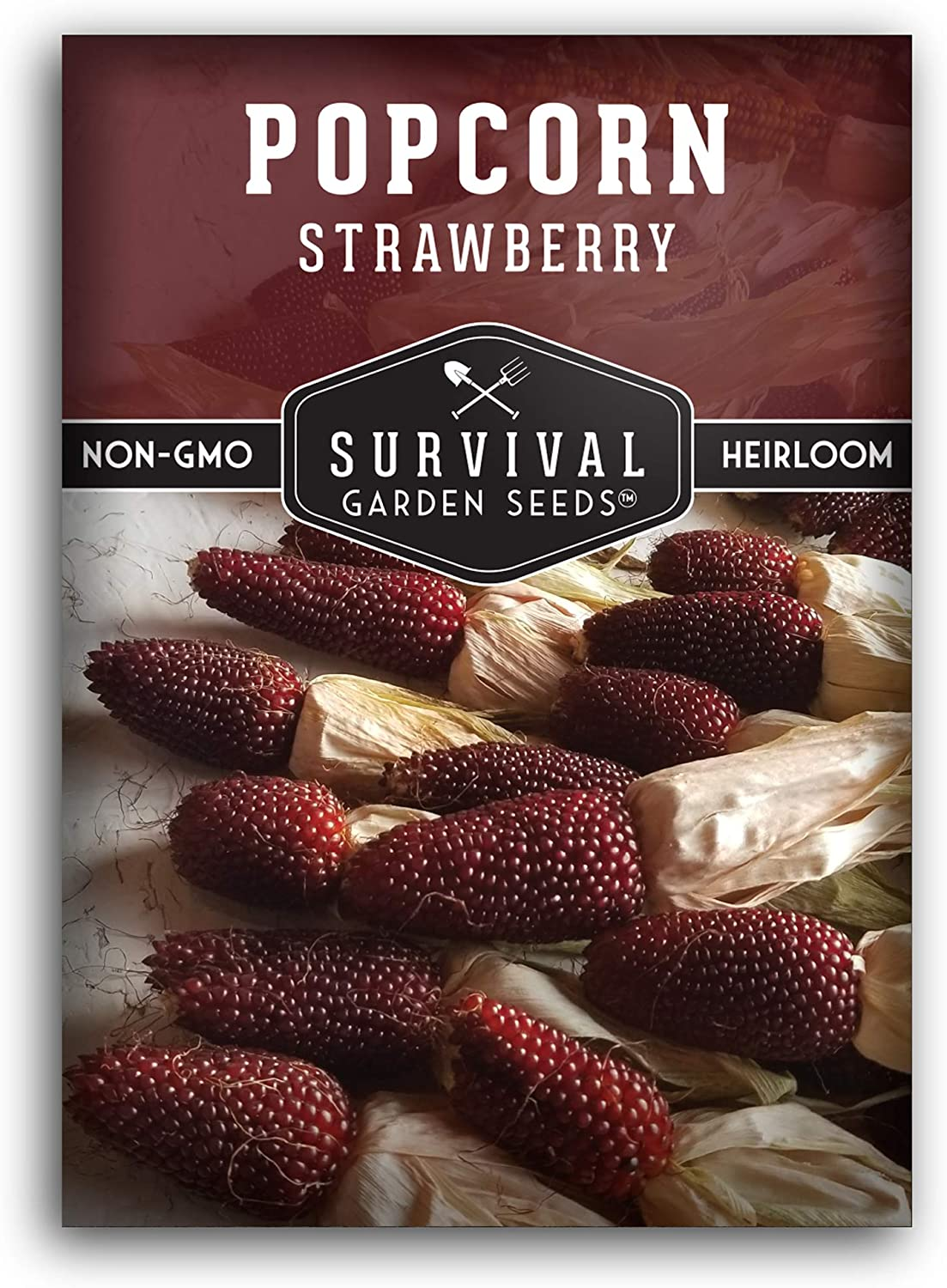 Survival Garden Seeds - Strawberry Popcorn Seed for Planting - Packet with Instructions to Plant and Grow in Your Home Vegetable Garden - Non-GMO Heirloom Variety
