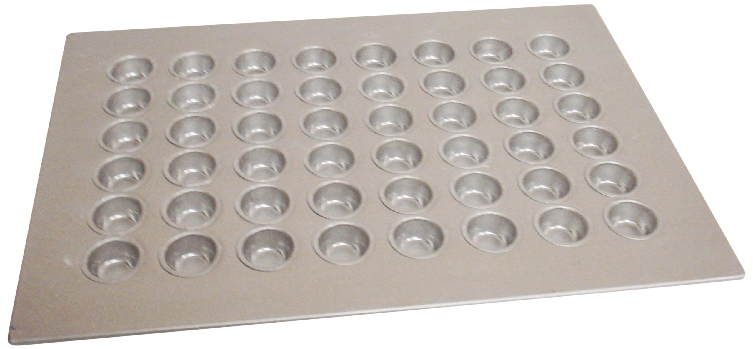 Magna Industries 15130 22-Gauge Aluminized Steel Mini Muffin Pan, 1-7/8'' Diameter, 6 x 8 Cups Layout (Pack of 6)