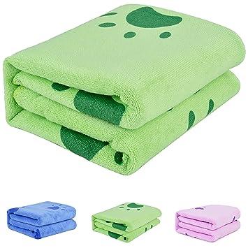 Legendog Toallas Baño, Toallas de Baño, Azul Toallas Baño, Toalla Microfibra Ultra Absorbente para Agua de Secado: Amazon.es: Productos para mascotas