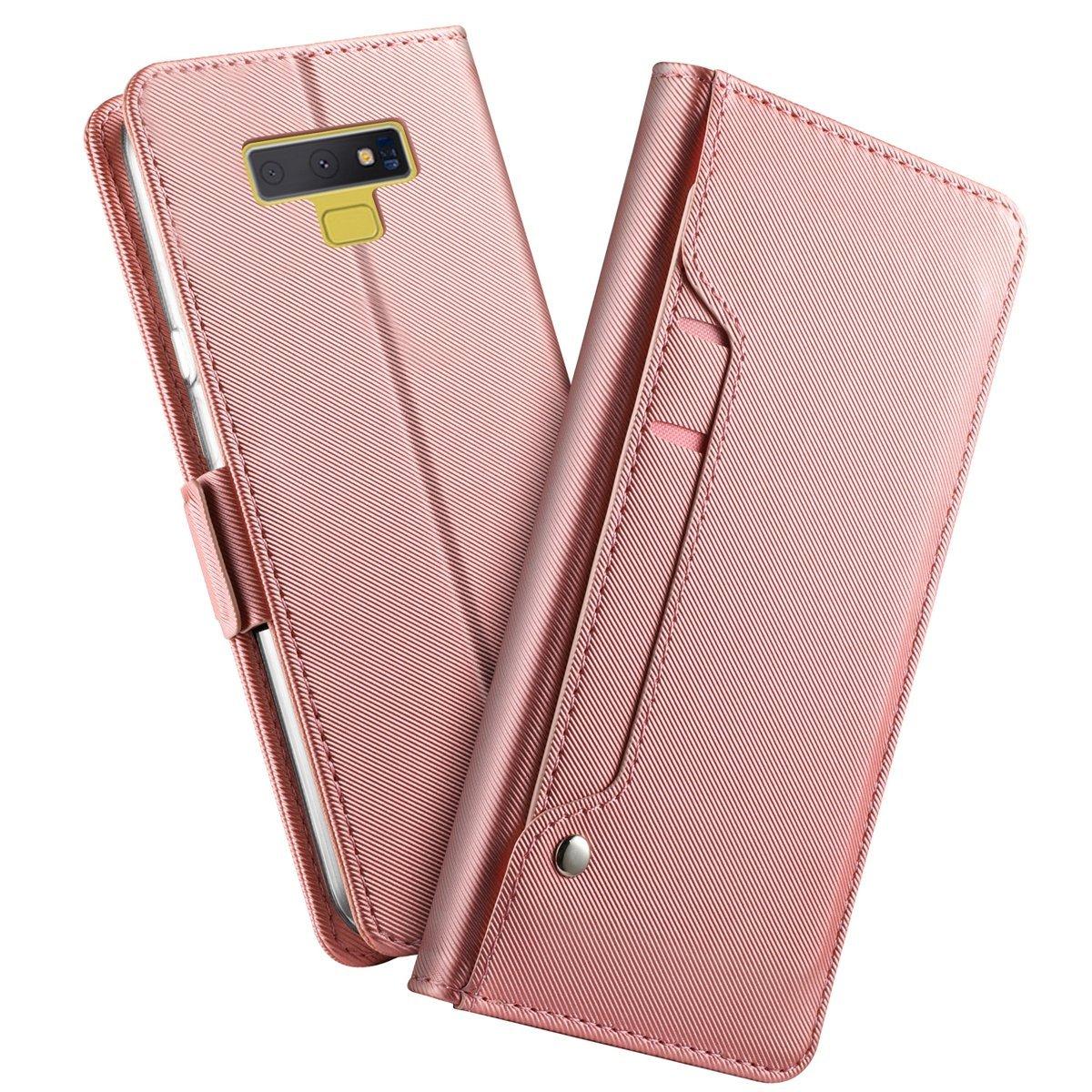 Coque Housse Samsung Galaxy Note 9 en Cuir Etui Flip Cover Case Antichoc Portefeuille Etui Cellulaire Housse Ultra-Mince PU Protecteur le Corps du Étui Magnétique Flip Stand Fente Pour Carte (Bleu)