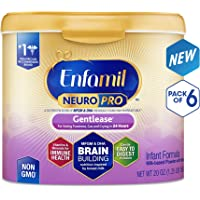 6-Pack Enfamil NeuroPro Gentlease Infant Formula (20oz Reusable Powder Tub)