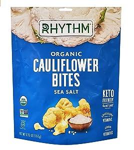 KETO Organic Cauliflower Bites with Sea Salt 5.75 oz. (163g) - Superfood Snack Bag