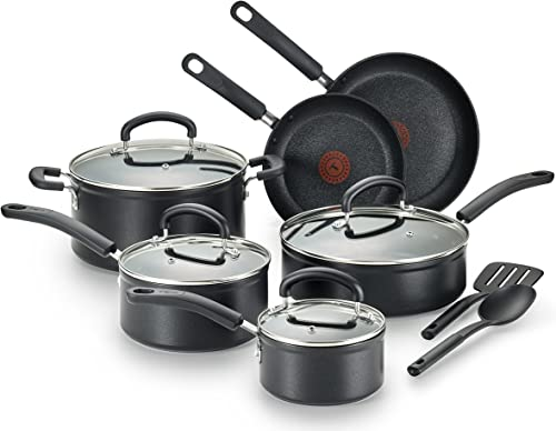 T-fal C561SC Titanium Thermo-Spot Heat Indicator Cookware Set