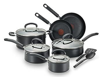 T-fal c561sc titanio avanzado antiadherente calor Indicador Thermo-Spot lavavajillas utensilios de cocina