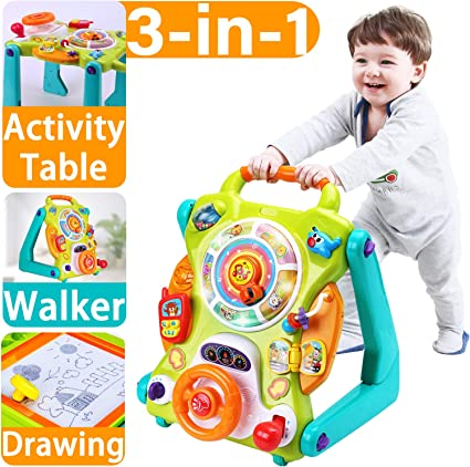 4 in 1 Baby First Steps Push Along Walker Activity Fun Toy Car Children Kid Gift