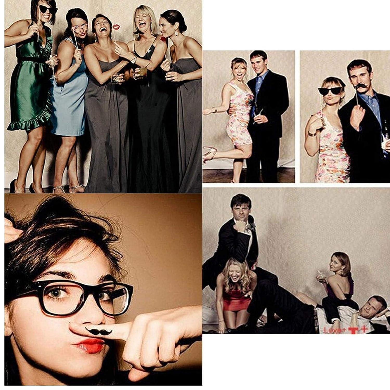Oulensy 27pcs de No/ël Chapeau de P/ère No/ël Parti Masques Photo Props Booth sur Un b/âton