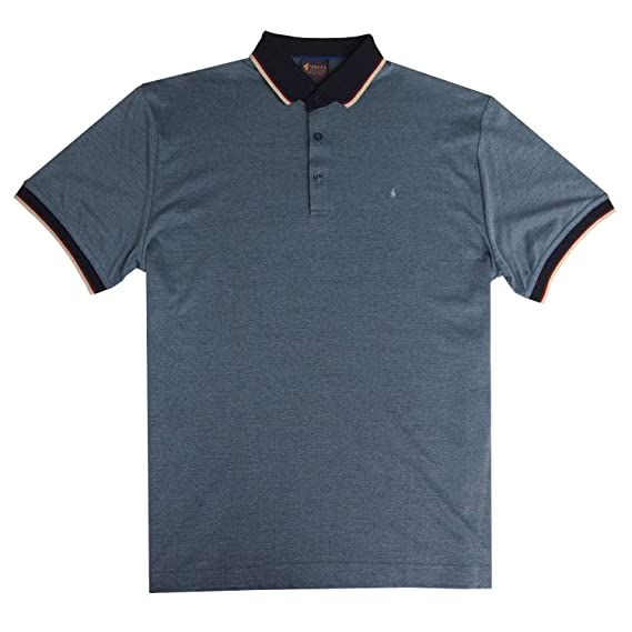 1fc8e29286 Gabicci - Plain polo shirt with contrasting block and diamonds