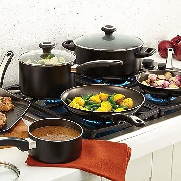 Amazon.com: Juegos De Cocina - Incluye 17 Piezas De Ollas, Sartén, y Cazuela Para La Cocina: Kitchen & Dining