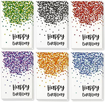 Best Paper Greetings 48 Pack Happy Birthday Note Cards Greeting Cards 6 Photos Birthday Party Elements