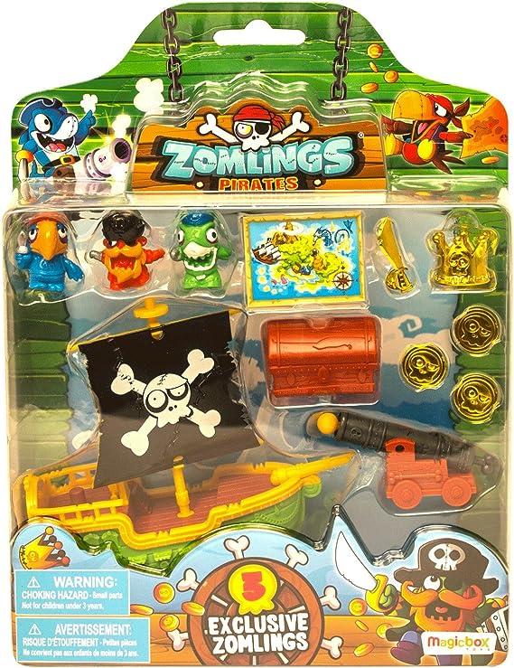 ZOMLINGS- Blíster Pirata Barco, Color Verde (Magic Box INT Toys P00992): Amazon.es: Juguetes y juegos