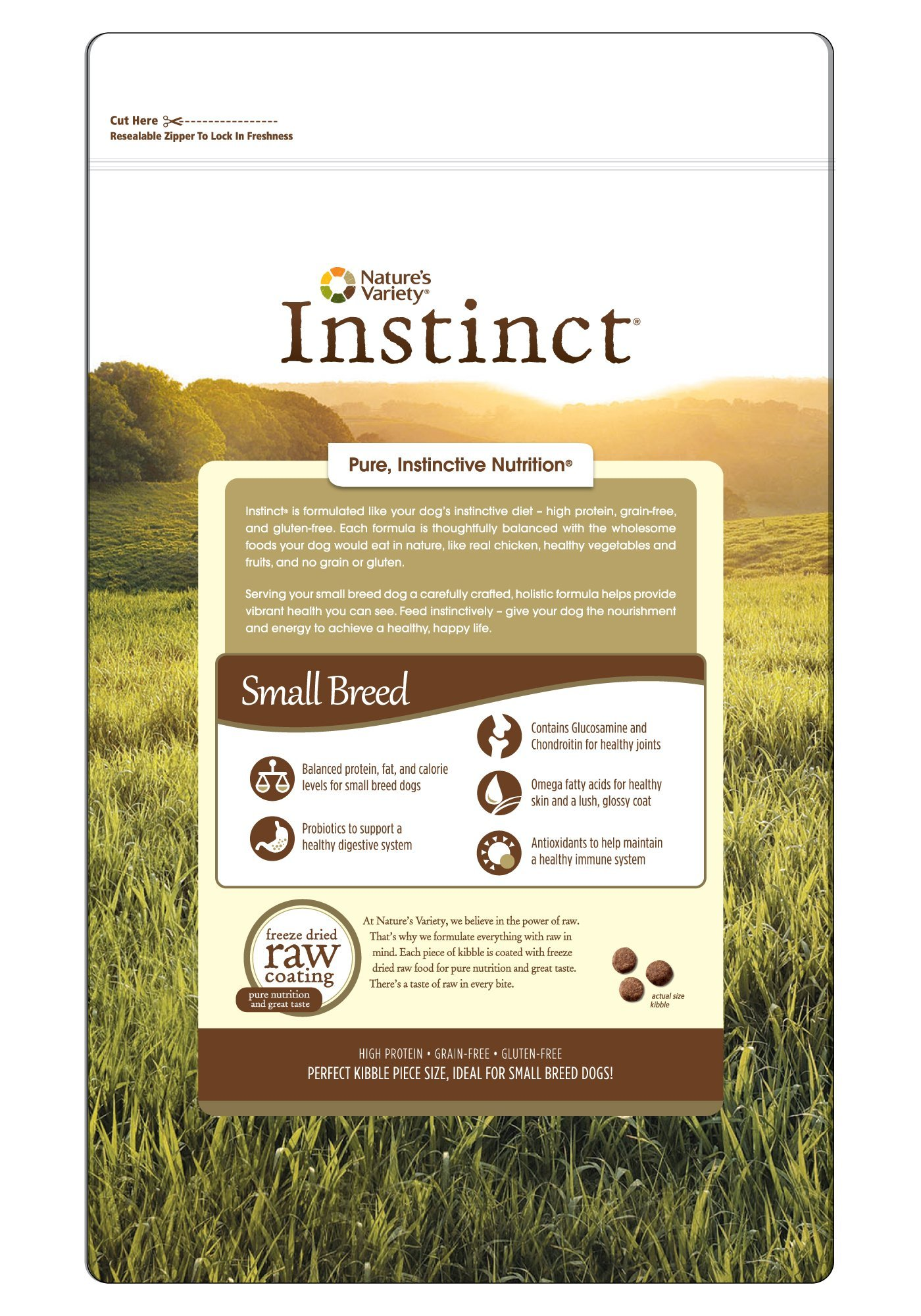 Instinct Original Small Breed Grain Free Chicken Meal Formula Natural Dry Dog Food by Nature's Variety, 4.4 lb. Bag by Nature's Variety (Image #2)