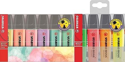 Stabilo 70/6 – 2 – STABILO BOSS ORIGINAL – Subrayador Pastel – 6 Pack – 6 colores (4 + 6 Special Pack): Amazon.es: Oficina y papelería