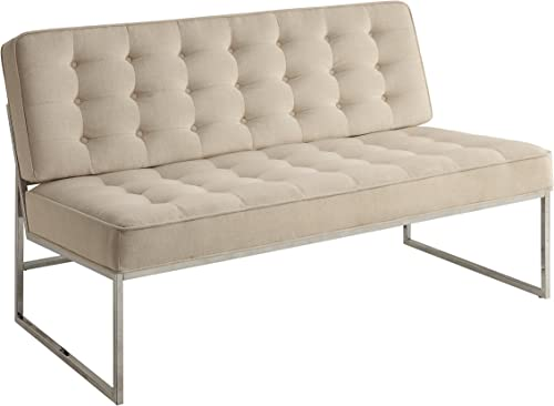 OSP Home Furnishings Anthony Armless Loveseat