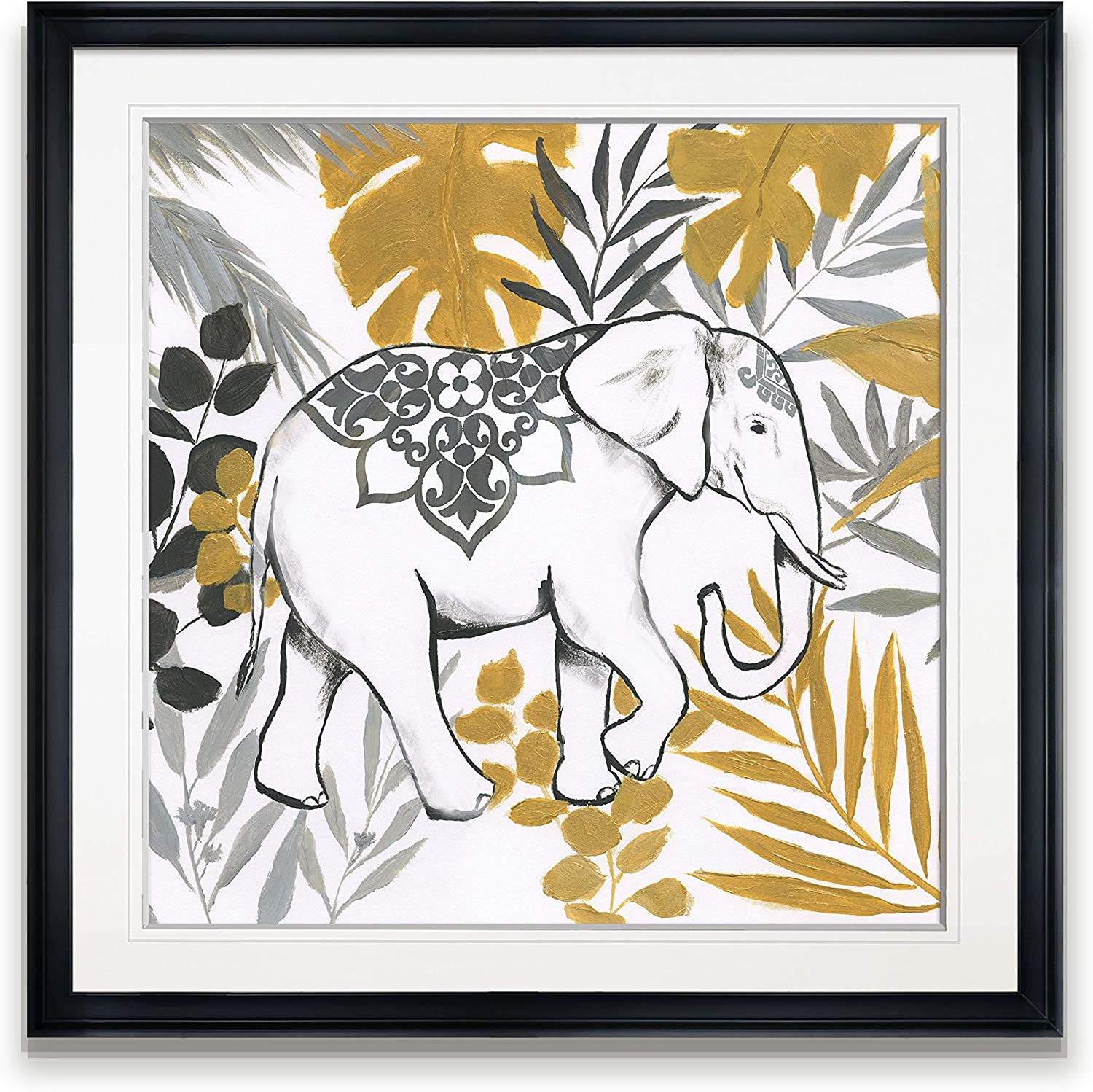 Amazon Com Renditions Gallery Jungle Elephant Wall Decor Gold Grey Tropical Leaves Art Framed Animal Landscape Painting Giclee Canvas Prints 24x24 Black Posters Prints All illustrations are free to download! renditions gallery jungle elephant wall