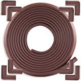 Edge & Corner Guards Set - EXTRA LONG 20.4ft Coverage Incl 8 Pre-Taped Corners   COFFEE Brown   Child Safety Baby Proofing  