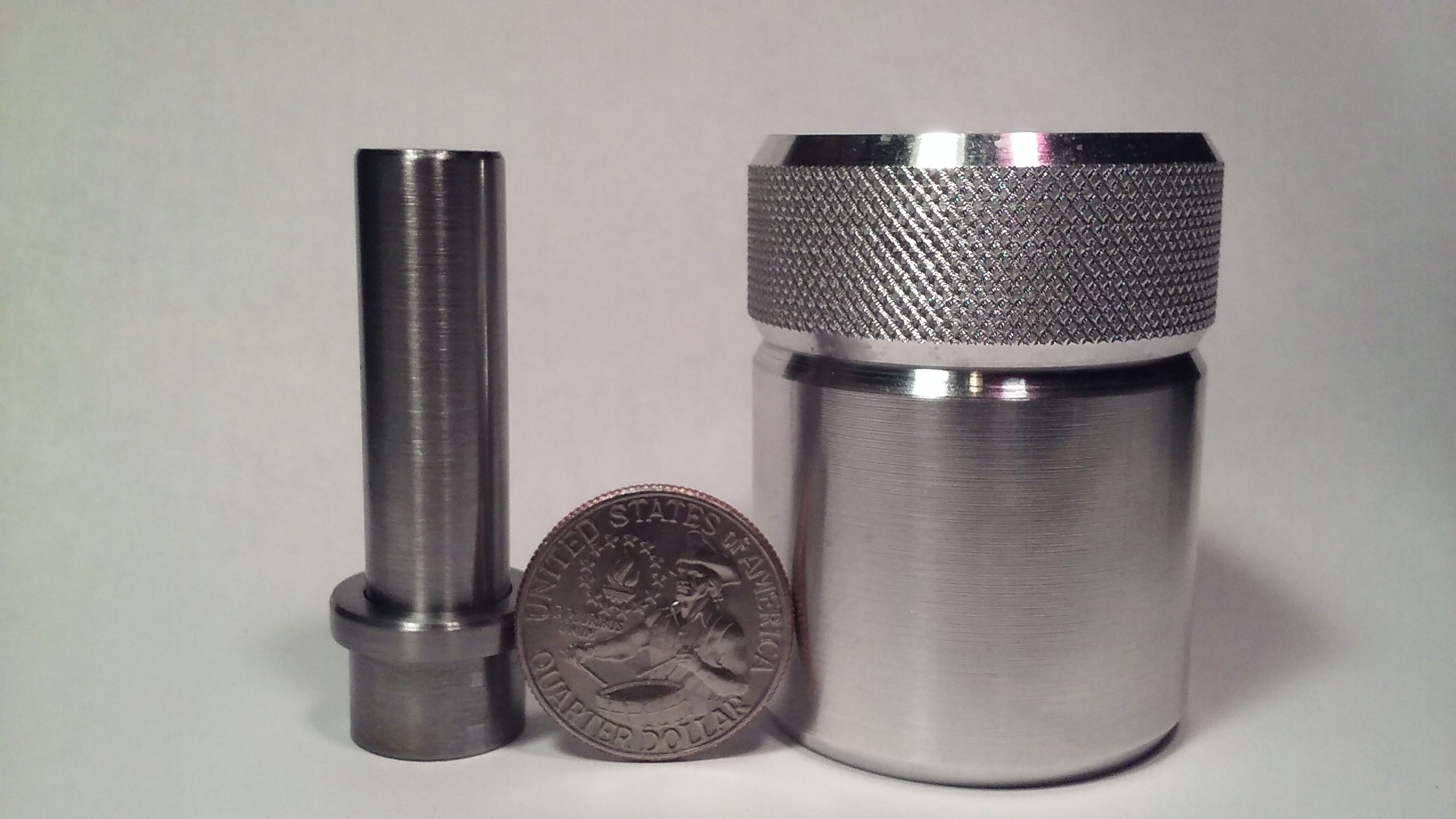 Coin Ring Center Punch for Quarters. Comes with 1/2'' Punch and Die Set. 24.3mm SALE! SALE! SALE!