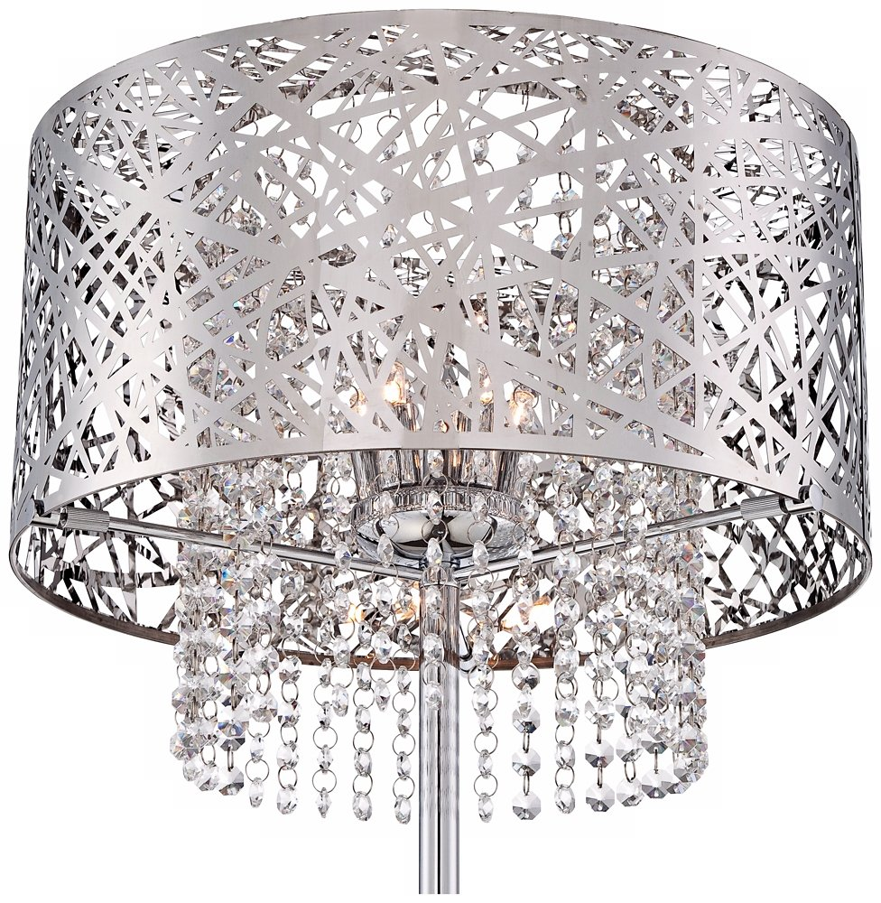 Possini euro chrome nest crystal chandelier floor lamp amazon arubaitofo Image collections