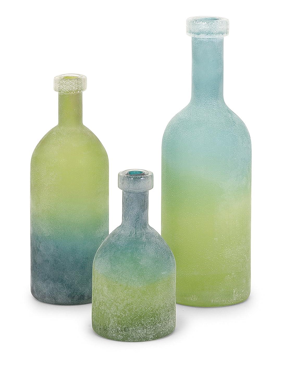アイマックス65452から3アレナ、緑、青のガラスびん - 3のセット B00T43LG8E