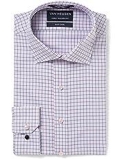 Van Heusen Men's Euro-Tailored Fit Check Business Shirt