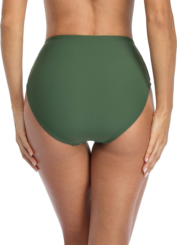 HK Designs straps black bikini bottoms w rouching