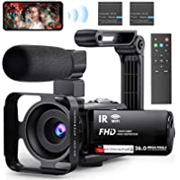"""Video Camera Camcorder WiFi Vlogging Camera 3"""" IPS Touch Screen Night Vision Camera for YouTube, Ultra HD 1080P 30FPS…"""