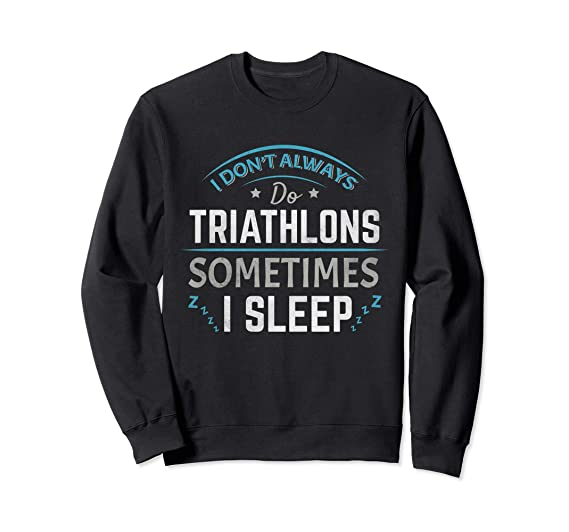 78bf5e49 Unisex Triathlon Triathlete Swim Bike Run Sweatshirt For Trisuit 2XL Black