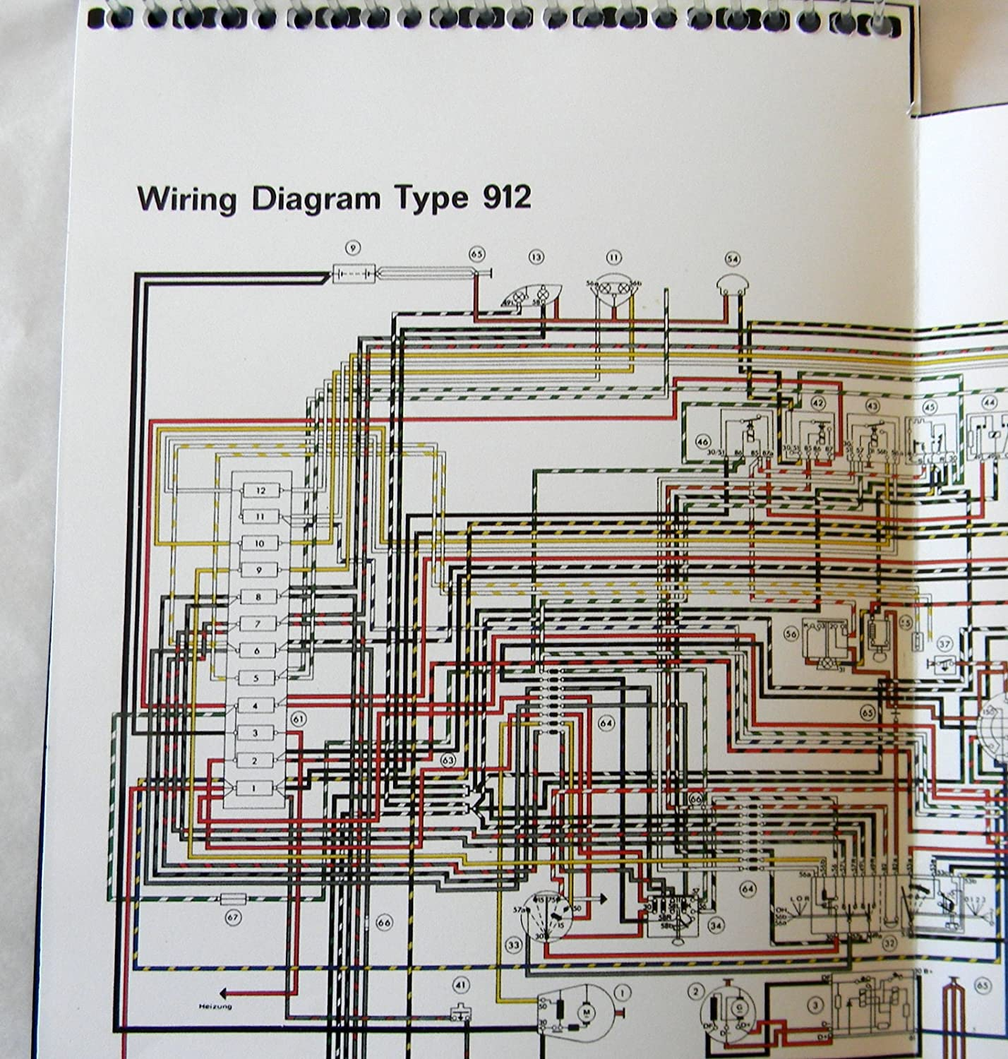 1967 porsche 912 wiring diagram amazon com 1968 porsche 912 owners manual 1967 1969 new factory  amazon com 1968 porsche 912 owners