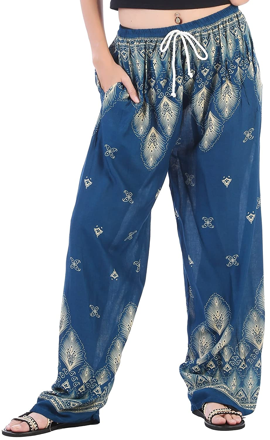 5f5ec0b37a BREATHABLE, SILKY SOFT RAYON FABRIC: Made out of 100% rayon fabric,  CandyHusky printed harem pants are silkier, softer & smoother than your  average loose ...
