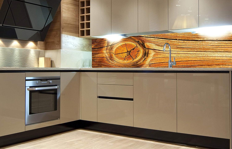 DIMEX LINE Küchenrückwand Folie selbstklebend Holz Knoten  Klebefolie -  Dekofolie - Spritzschutz für Küche  Premium QUALITÄT - Made in EU  19 cm  x
