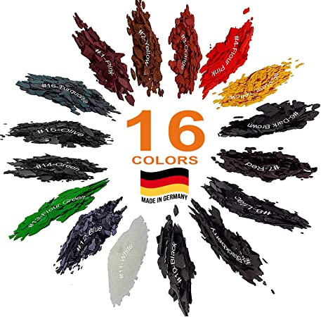 Vela tinte Plus mechas de la vela: 20 colores, 50 mechas enceradas, Pigmento de vela, copos de Dye, Dye Chips, Gran selección de colores. Fabricado en ...
